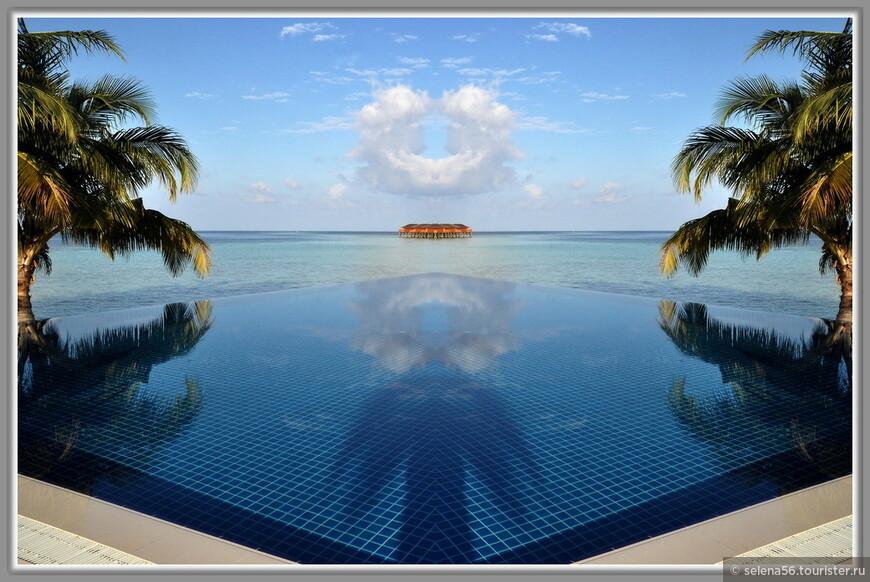 Это  придуманный мной  отображенный кадр, как эмблема для райских островов.