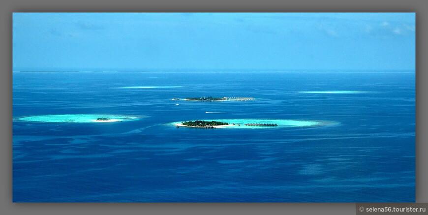 Так выглядят курортные острова с гидросамолета.