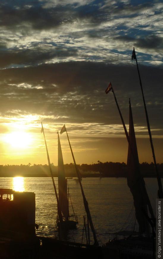 Закат на набережной Нила... В тот день он особенно удался... )))