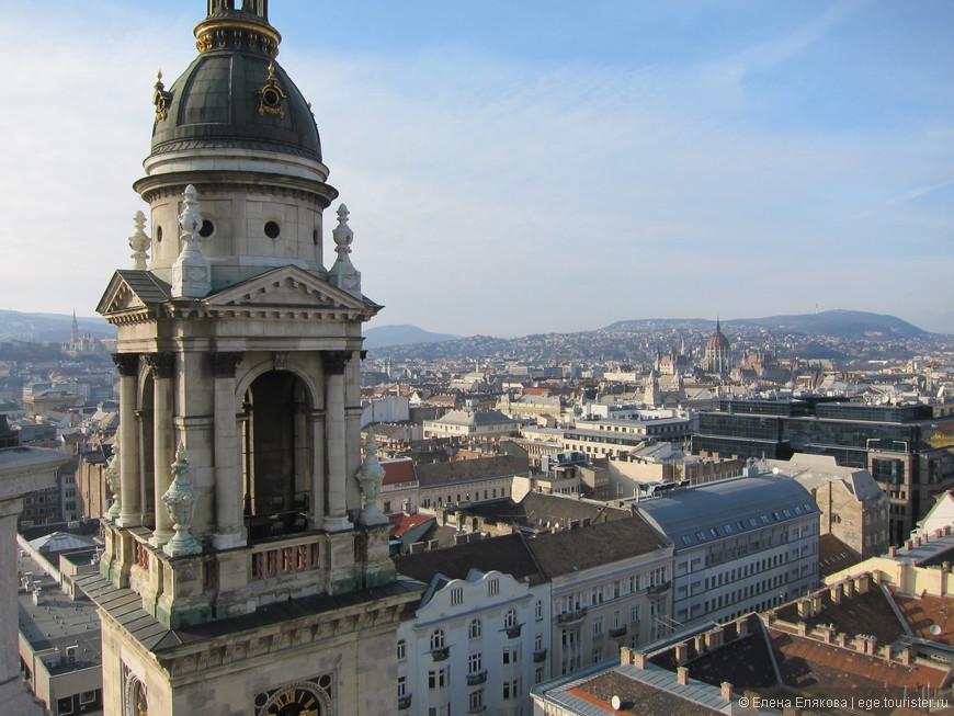 Вид на Будапешт, открывающийся сверху Базилики