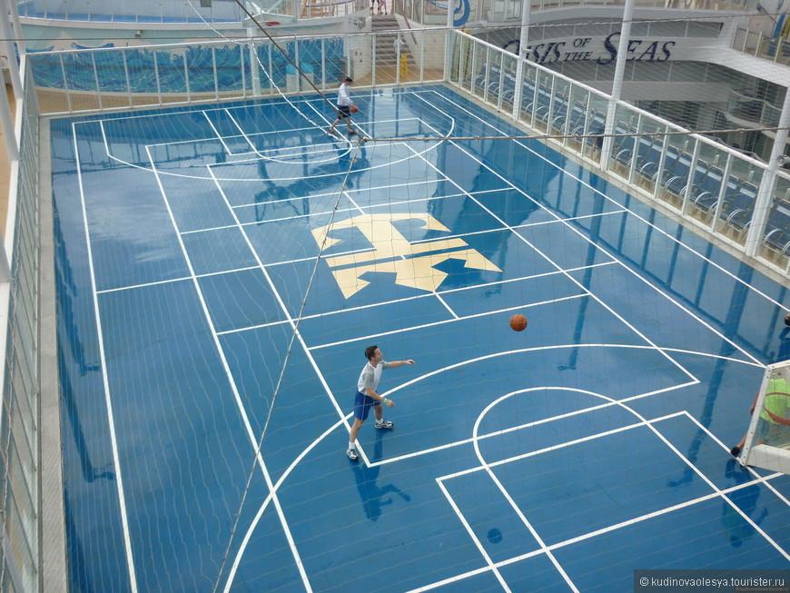 Волейбольная, баскетбольная площадка.