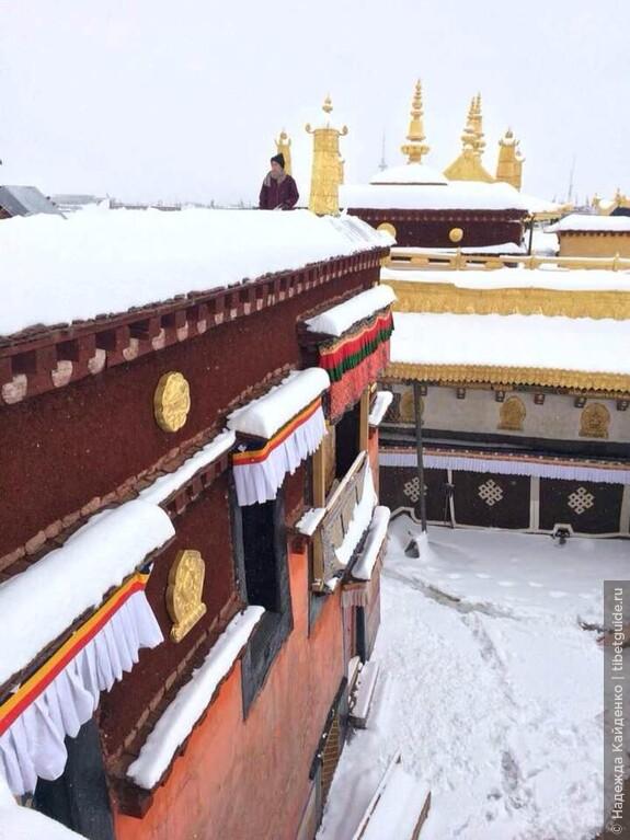 давно мечтала о таком кадре, столько снега в Лхасе выпадает очень редко, далеко не каждый год