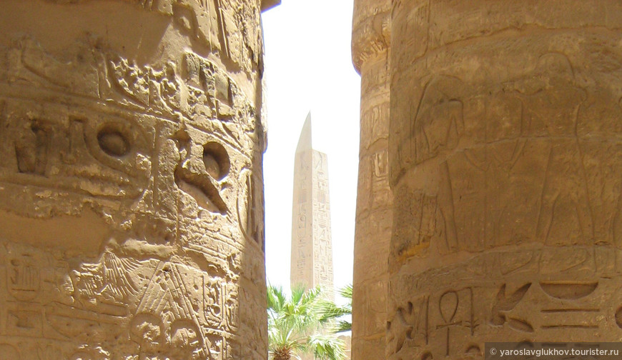 В Луксорском храме.
