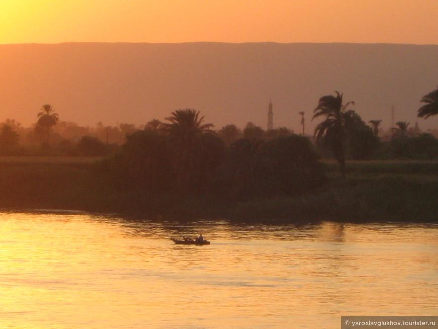 Умопомрачительный египетский закат.