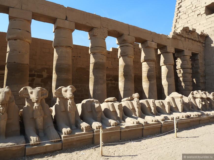 После того, как древнеегипетский культ Амона-Ра постепенно превратился сперва в региональный, а затем и в государственный, фараоны эпохи раннего Среднего царства начинают строительство храмового комплекса (продолжавшееся более тысячи лет), в котором жрецы Амона могли бы с приличествующей им пышностью и торжественностью отправлять свои ежедневные службы. Как и для Амона, были возведены храмы для супруги его, богини Мут, и для их сына, лунного бога Хонсу. Вместе они образовывали так называемую фиванскую Триаду. Кроме них, в Карнаке также был выстроен храм бога Монту, ставшего ещё при XI династии главным богом города Фивы