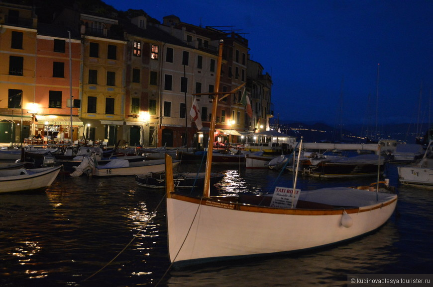 Вид на Портофино из порта