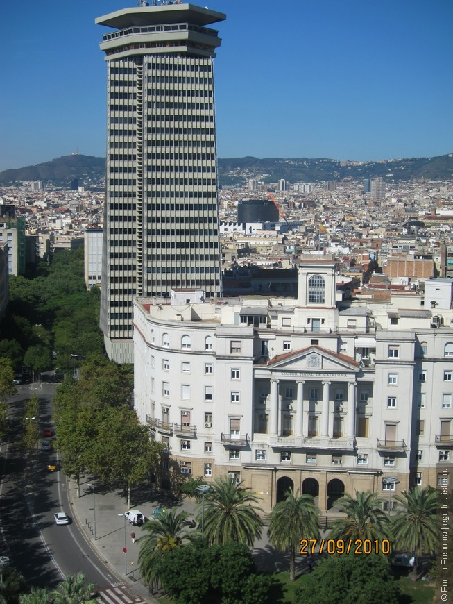 Барселона с  монумента Христовору Колумбу