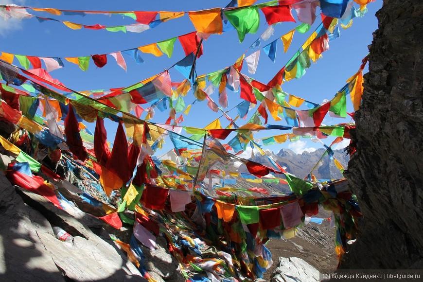 Вершина перевала!!!  Тибетцы проходят кору за один день, как и на Кайласе...  нам же требуется два дня на полный круг внутренней коры вокруг горы Ченрезиг