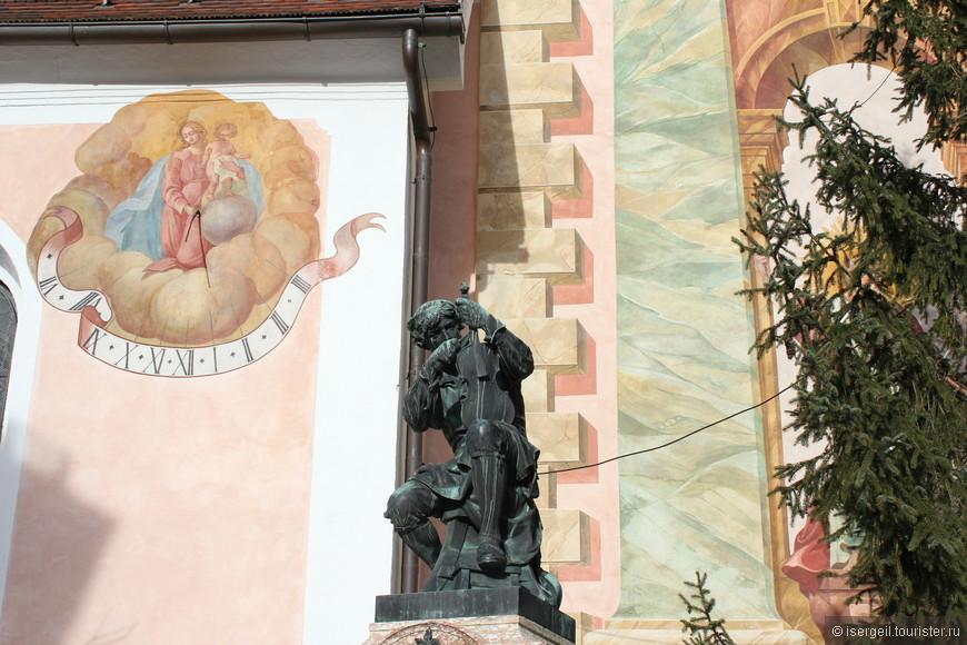 Памятник Матиасу Клоцу от благодарных потомков.