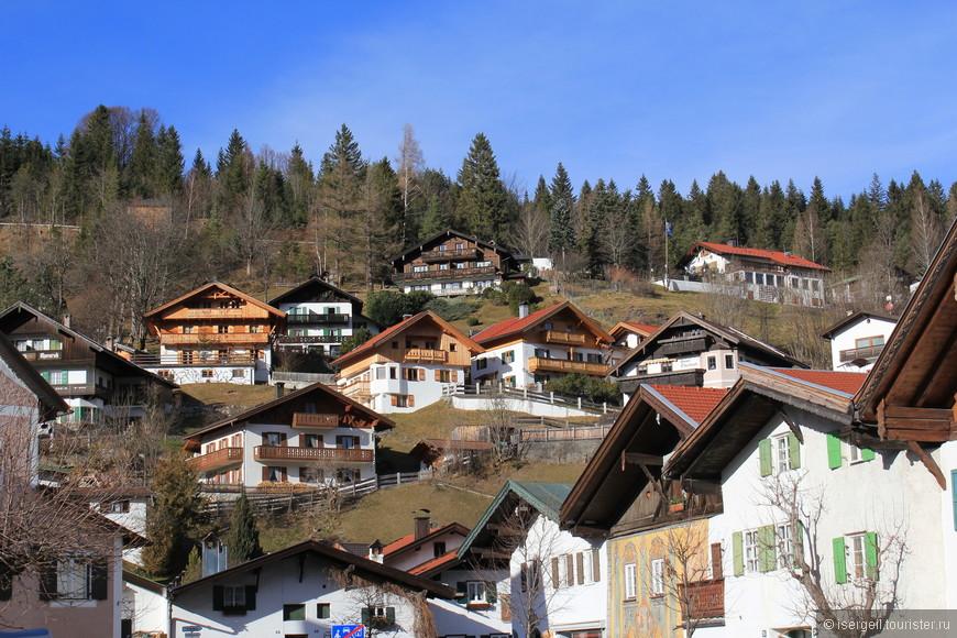 Типичный альпийский пейзаж.
