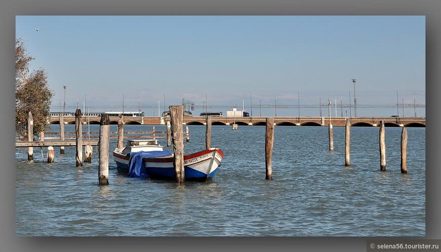 Мост,соединяющий материковую и островную часть Венеции.