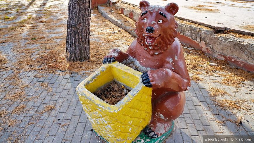 19. Ненасытный медведь все ждет мусор.