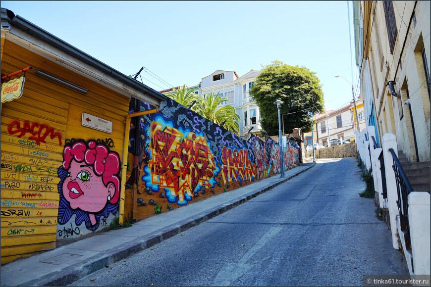 Граффити под наклоном.