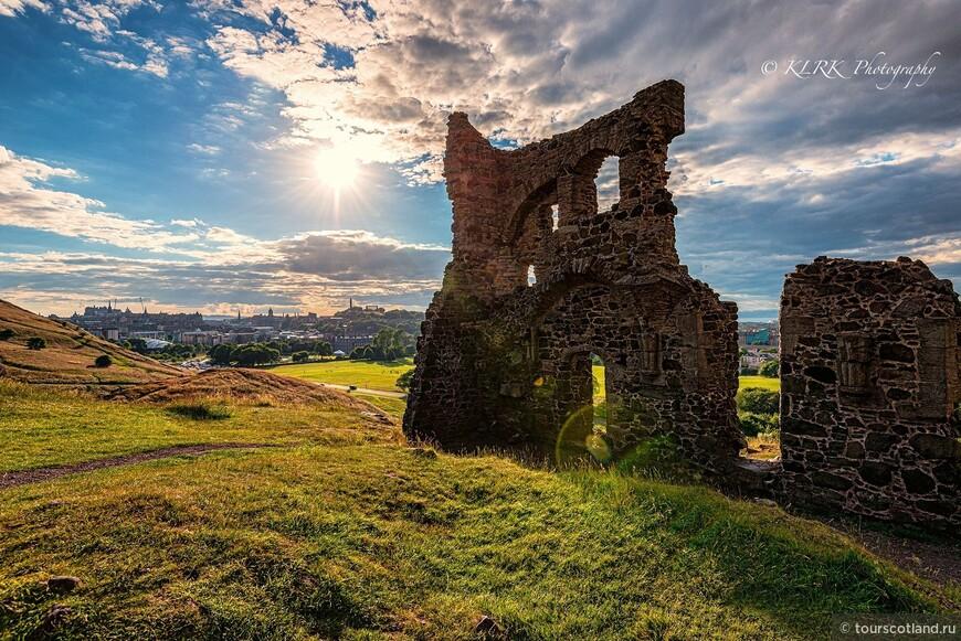Руины старого замка. Эдинбург, Седло Артура.