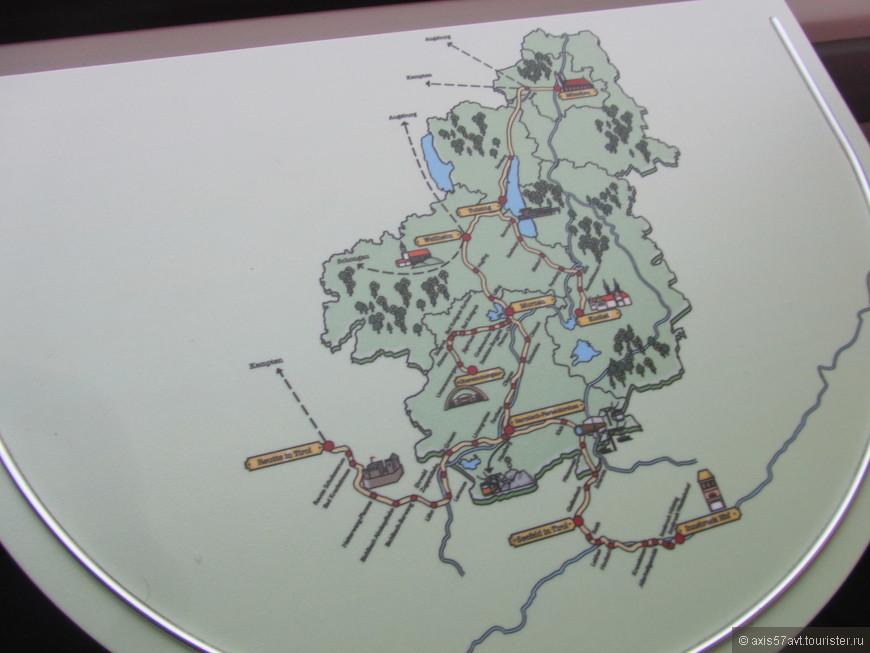 В поездах на столиках нарисована карта ж/д сообщения. Можно свериться с маршрутом.