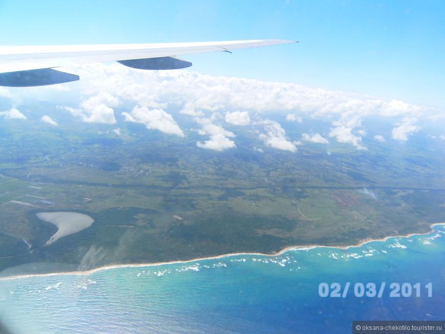 Подлетаем к острову Гаити.