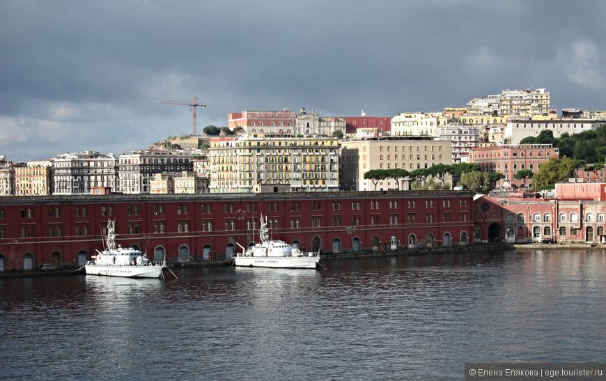 Вид с корабля на Неаполь