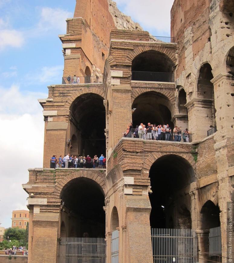 Колизей - ярусы истории