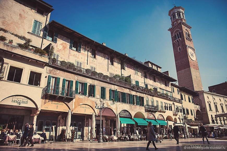 Башня самая высокая в городе, Torre dei Lamberti. Можно на лифте ...на самый верх :-)