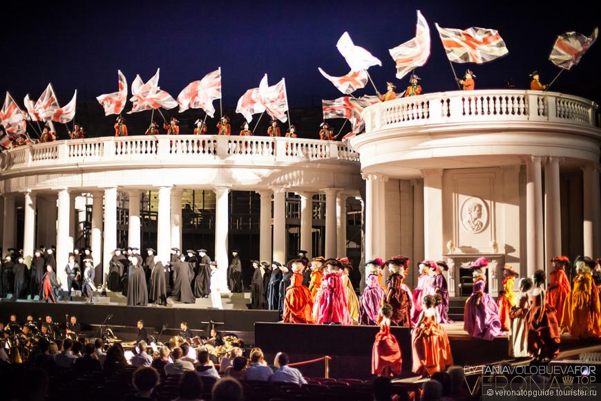 Оперный сезон в Вероне, Арена внутри