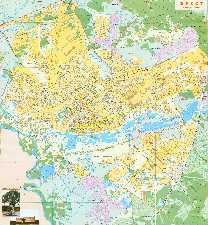 Большая туристическая карта Бреста (4,84 Мб) b44a923fe67