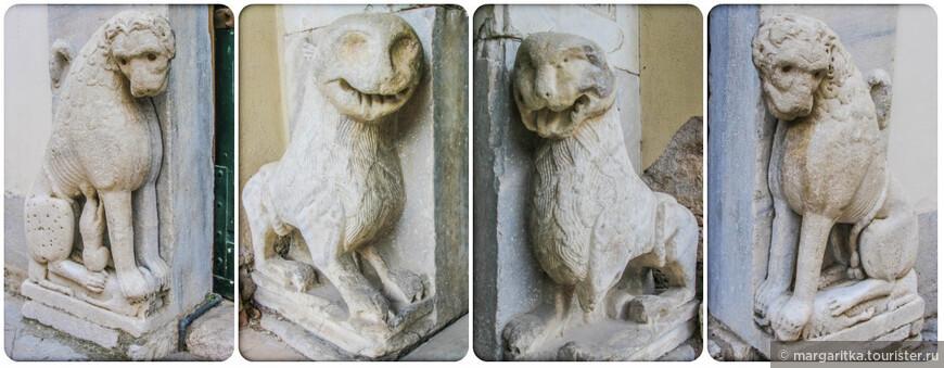 От романского фасада остались фигуры львов в основании портала: лев и львица с львёнком. В одной местной легенде рассказывается, что однажды, во время сарацинского набега, статуи львов ожили и не позволили врагам войти в собор.  Богатая история собора уходит корнями в начало прошлого тысячелетия. Роберт Отвиль, по прозванию Гвискар, в 1077 году захватил лангобардское княжество Салерно. Некоторое время Салерно считалось столицей южных владений норманнов. В 1080 - 1085 годах по приказу Гвискара в городе был построен собор. В 1084 году храм был освящён папой Григорием VII. Кстати, год спустя папа был похоронен именно в соборе Салерно.