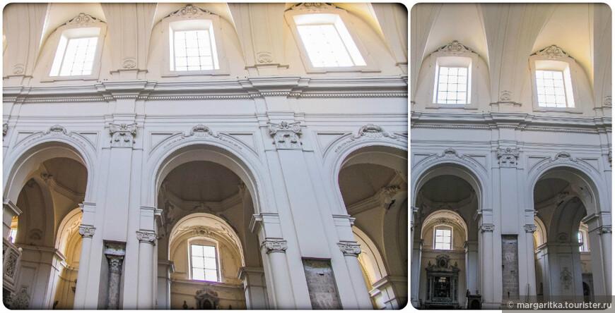 Нефы завершаются деревянными хорами, по сторонам которых расположены два резных амвона (1180, 1195). Амвоны поддерживают византийские колонны, украшенные инкрустациями из цветного камня. Отделка амвонов (скульптуры, капители, мозаика и т.д.) сделана в византийском стиле и перекликается с подобными образцами из Палермо.