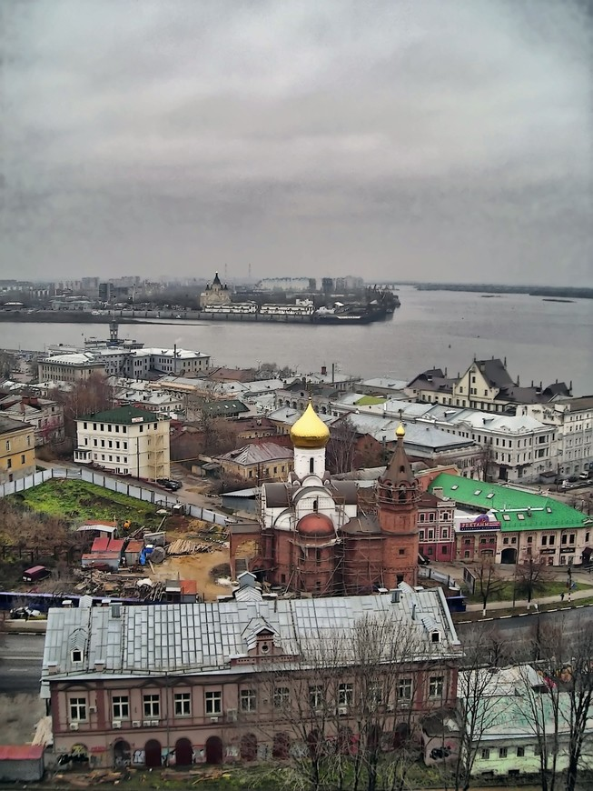 Вид на стрелку, г. Нижний Новгород