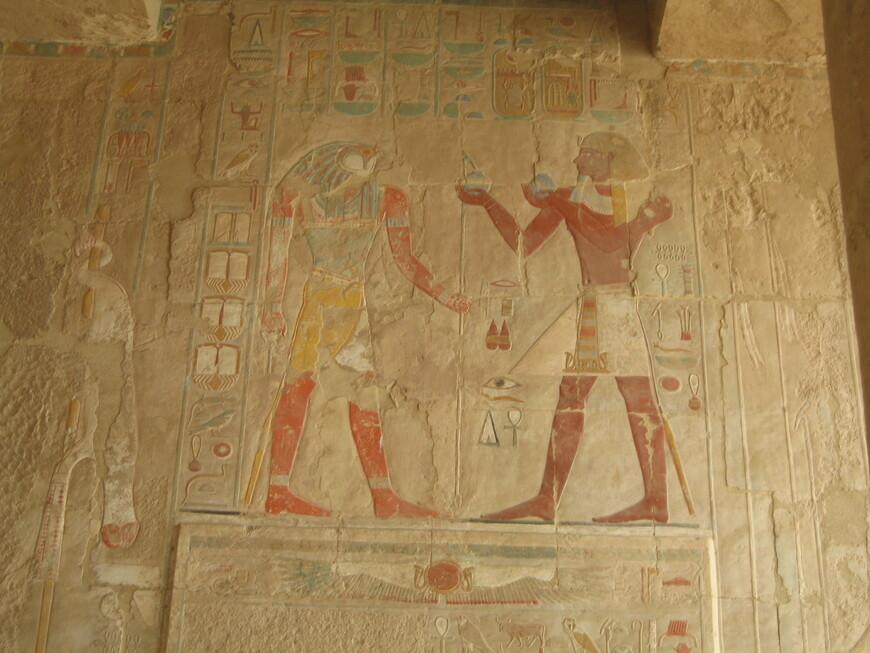 Фрески в храме Хатшепсут