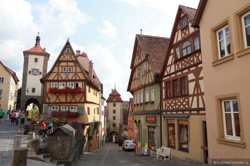 Ротенбург-на-Таубере, продолжаем гулять по улицам и паркам. Один из самых красивых видов города.