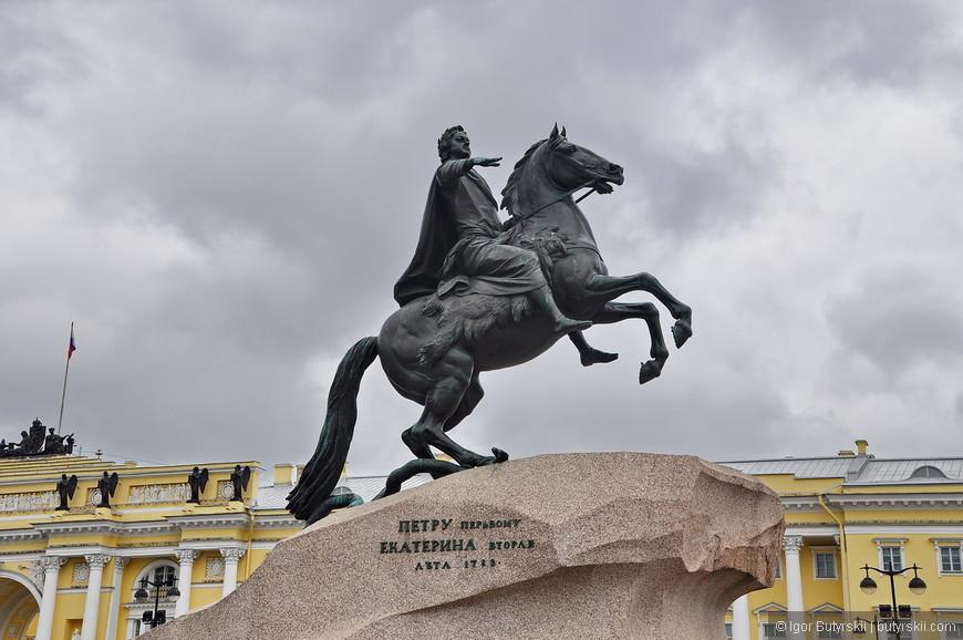 20. Знаменитый Медный всадник. Памятник Петру является одним из символов Петербурга.