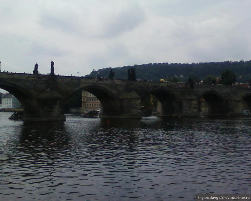 Вид на Карлов мост.