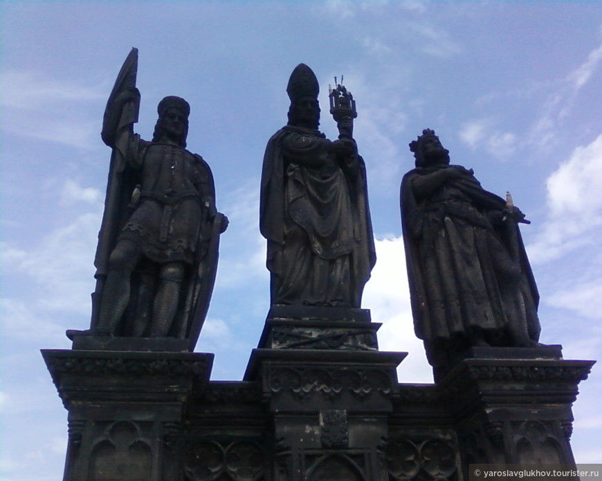 Скульптура Святых Норберта, Сигизмунда и Вацлава.
