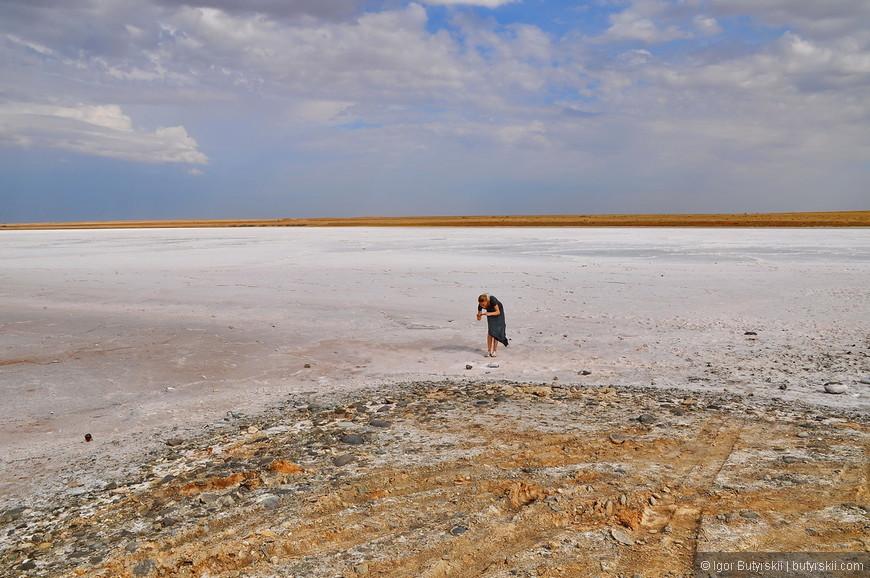 03. Соль выступает над водой образуя такое снежное поле.