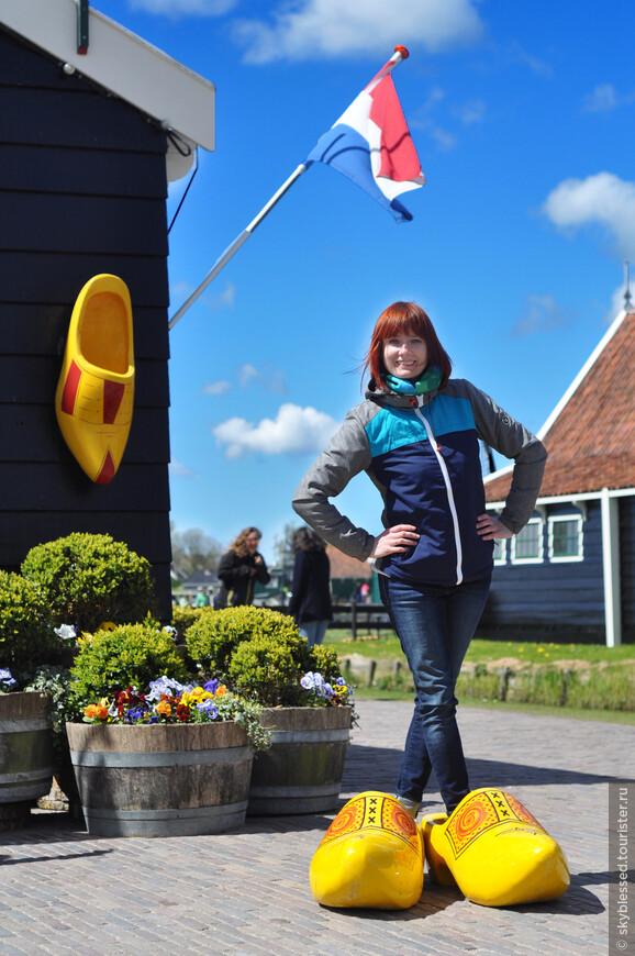 место по производству кломпов - традиционные голландские башмаки.