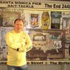Конец 66 дороги в городе Санта-Моника
