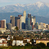 Лос-Анджелеса - вид на город и горные вершины