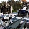 Один из павильонов Юнивёрсал Студио Тур с разбившимся самолётом