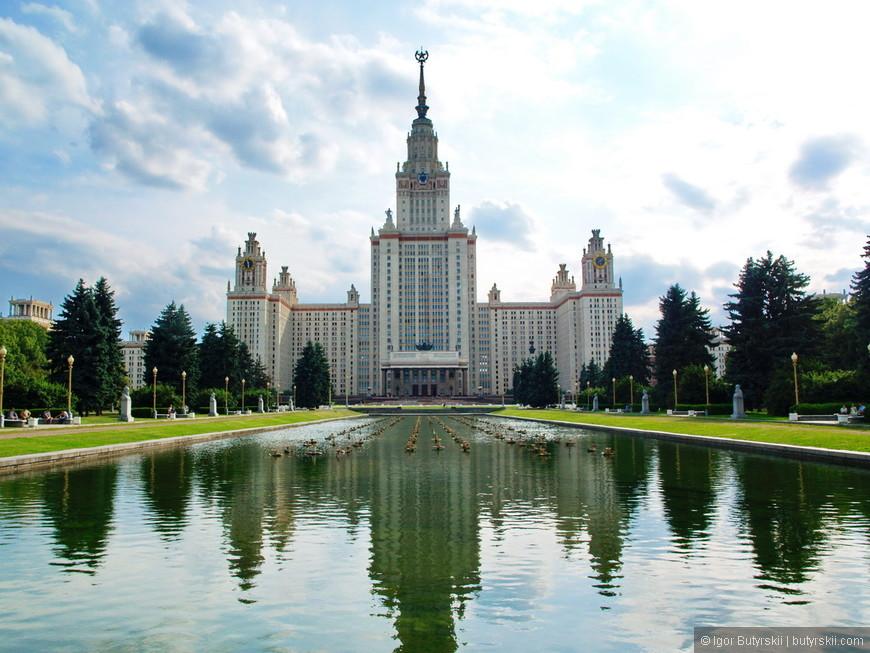 19. Главное здание МГУ. Высота 239 метров, 39 этажей. Самое высокое здание из всех, самое отдаленное от центра и самое известное.