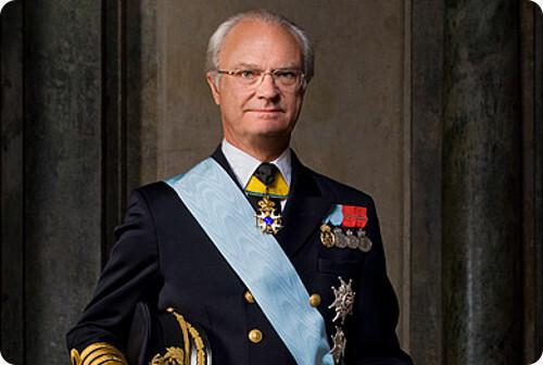 Король Швеции Карл XVI Густав (род. 1946 г.). На престоле с 15 сентября 1973 г. Из Интернета