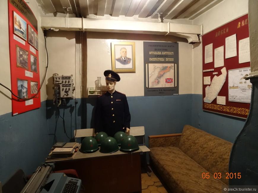 Кубрик командира Ворошиловской батареи