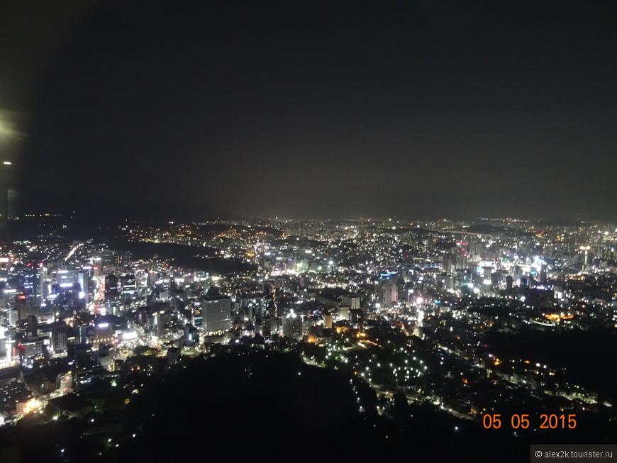 Сеул. Вид на город от телебашни.