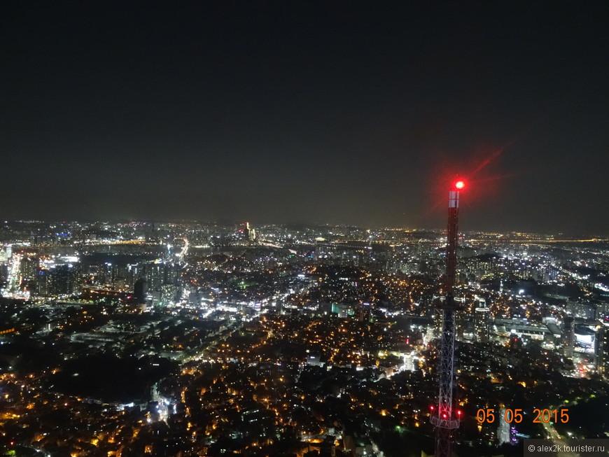 Сеул.   С телебашни.