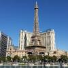 Лас-Вегас - поющие фонтаны перед отелем Биладжио