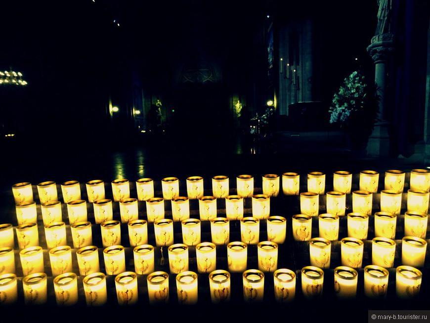 Свечи в Нотр-Даме