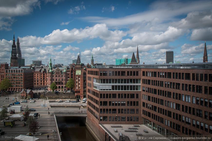 Вид из окна Hamburg Marine Museum.