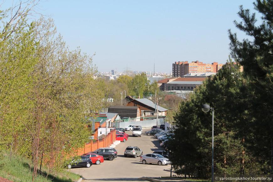 Вид на Казань с Зилантовой горы.