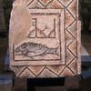 Фрагмент напольной мозаики 3 в с изображением знака раннего христианства-Рыбы( ihtiys)