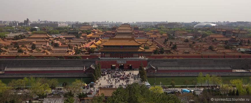 Императорский дворец, вид с холма