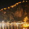 Городская стена Котора ночью